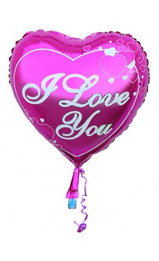 I love you Purple Balloon