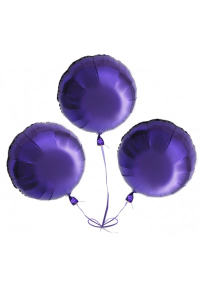 3 Lavender Round Balloons