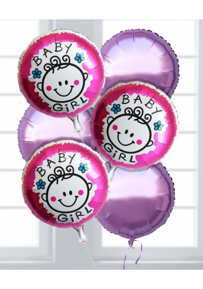 Its A Girl Balloon Pack II