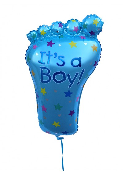 It's a Boy Footshape Balloon