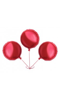 Tri-Red Round Balloon Pack