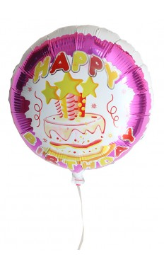 Pink Birthday Cake Balloon