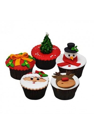 Assorted Christmas Cupcakes