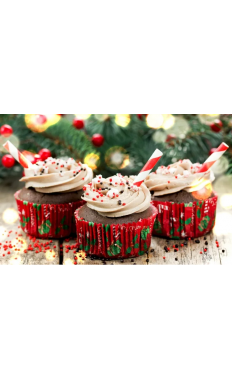 Chocolate Candy Cane Cupcakes