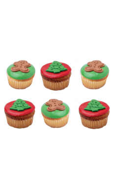 Gingerman and Christmas Tree Cupcakes