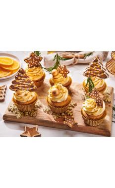 Golden Christmas Cupcakes