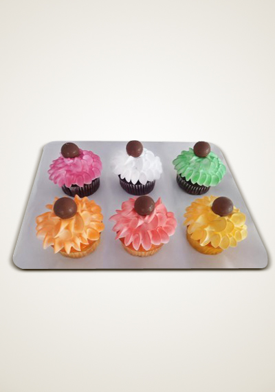 Multi Colour Cream Dozen Cupcakes