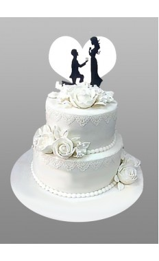 Love Heart Wedding Cake