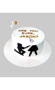Are You Sure Custom Cake
