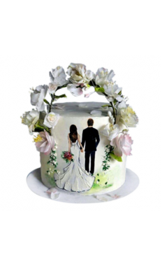 Wedding Ceremony Flower Cake
