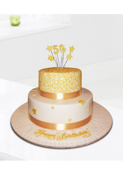 Gold Birthday Cake