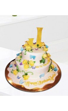 Charm Of Flowers Cake