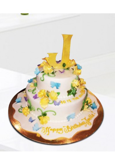 Buy Charm Of Flowers Cake In Dubai UAE