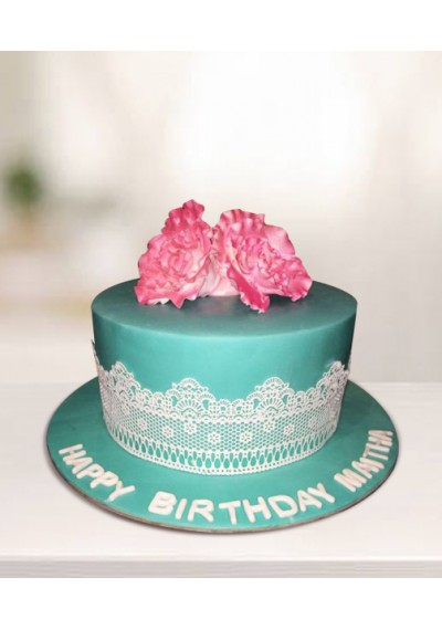 Exotic Flowers Cake
