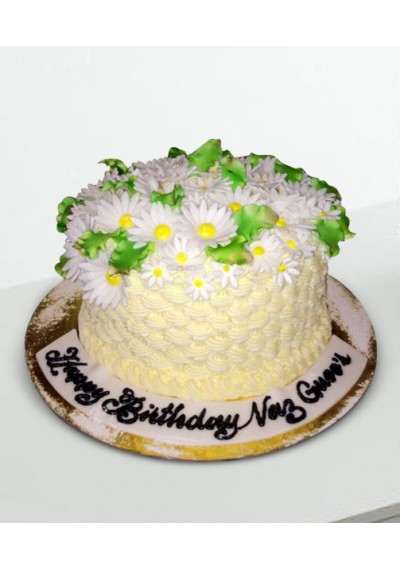 Exquisite Flowers Cake