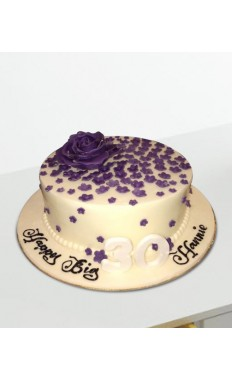 Purple Flowers Cake