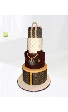 Louis Vuitton Shopping Bag Cake
