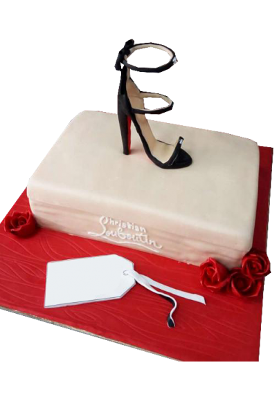 Shoe on Top Customized Cake