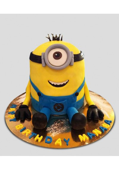 Happy Minion Face Cake