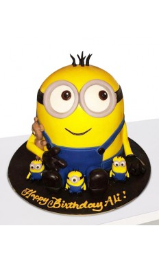 Minion Bash Birthday Cake