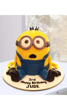 Minion Stack Birthday Cake