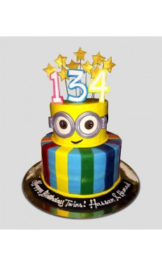 Minion and Star Cake