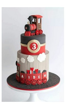 Customize Red Train Cake