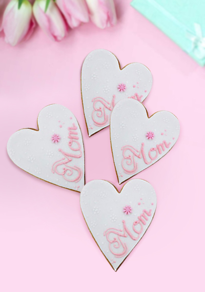 Mom Heart Cookies