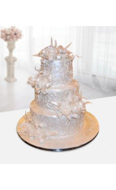Glazed Tiers Wedding Cake
