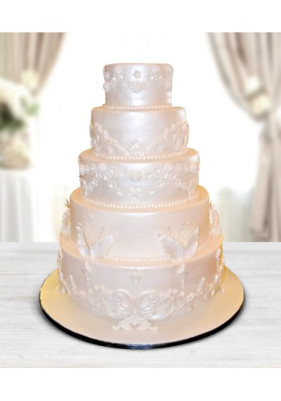 5 Steps Wedding Cake