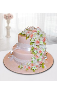 Flowers Wedding Cake