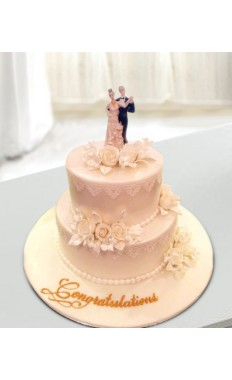 Couple Wedding Cake
