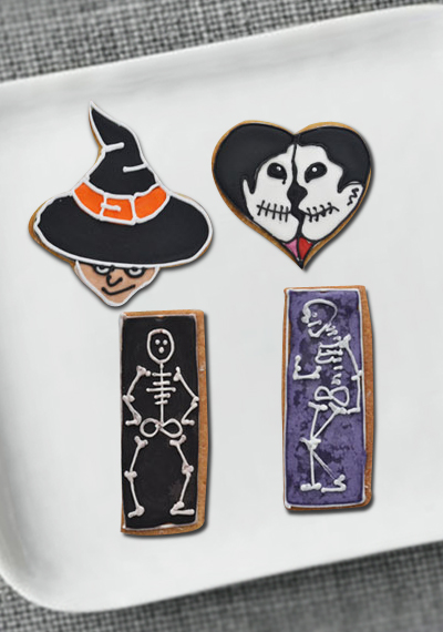 Halloween White & Black Scary Cookies