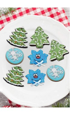 Xmas Tree Ball & blue star Cookies