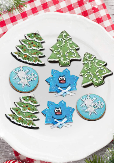 Xmas Tree Ball Blue Star Cookies