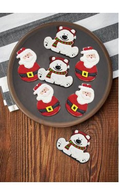 White Bear & Santa Belt Cookies