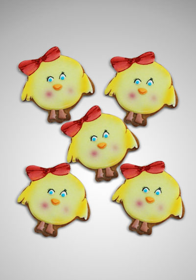 Girly Bird Cookies
