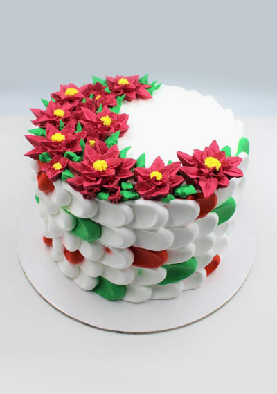 Christmas Checkerboard Cake