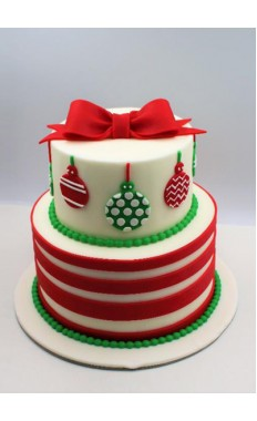 Christmas Ornaments Cake
