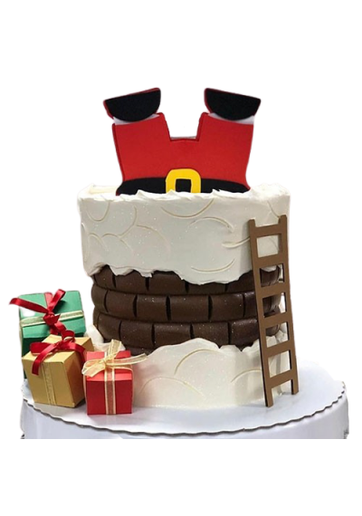 Christmas Santa in Chimney Cake