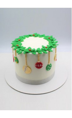 Colorful Ornaments Cake