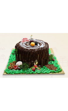 Black Forest Trunk Cake