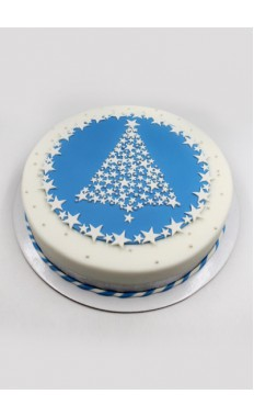 Star Tree Cake Blue