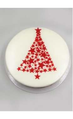 Star Tree Cake Red