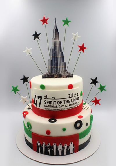Burj Khalifa National Day Cake