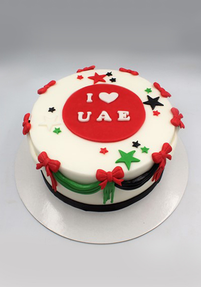 I Love UAE, National Day Cake