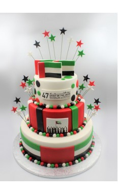 Triple Tiered National Pride Cake