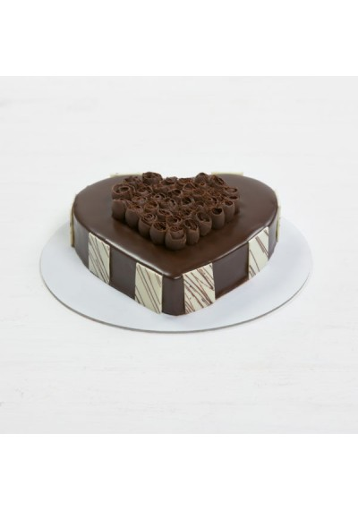 Chocolate Truffle Heartshape Cake