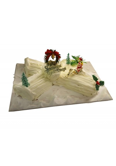 Christmas Vanilla Log Cake