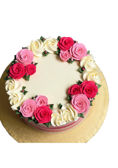 Beautiful Vanilla Flower Cake